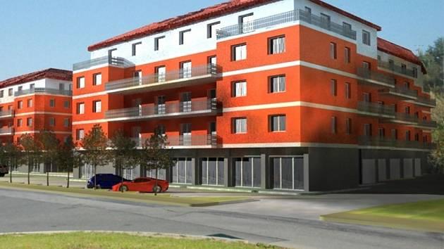 Na místě bývalého svazáckého objektu dvě budovy. Celkem tam má vzniknout 180 bytů.