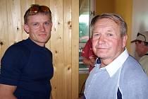 Bývalý dlouholetý předseda kanoistického oddílu v Ostrožské Nové Vsi Miroslav Čápek (na snímku vpravo s dvojnásobným olympijským vítězem Martinem Doktorem).