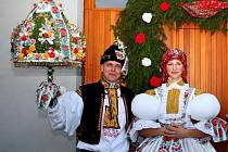 Soutěžní pár číslo 28 – Patricie Slavíková a Michal Oharek, starší stárci na hodech v Jalubí 19. – 20. září.
