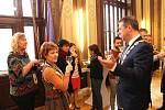 Účastníci projektu Internet: Under my skin z programu Erasmus+, který hostí uherskohradišťské gymnázium, zavítali ve čtvrtek 9. listopadu na radnici, kde je přijal starosta města Stanislav Blaha.