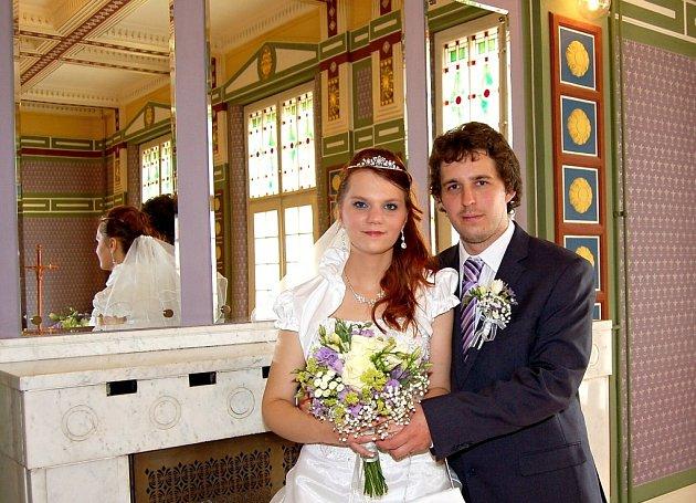 Soutěžní svatební pár číslo 202 - Tomáš a Hana Přikrylovi, Prostějov.