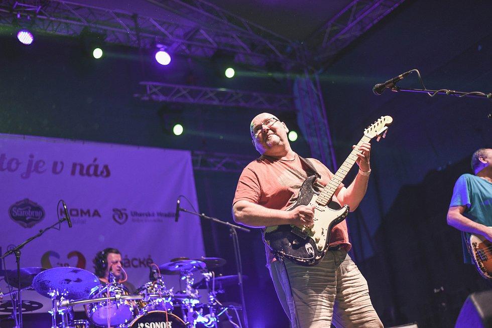 Ostravská skupina Buty letos na Slováckém létě vystoupila poprvé.