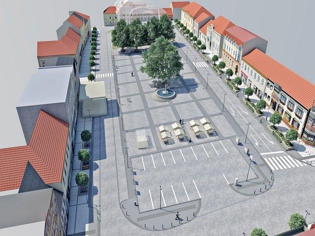 Toto je možná podoba nového Masarykova náměstí v Uherském Brodě.