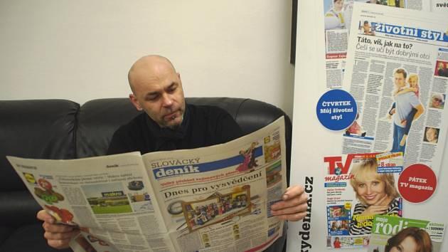 Zlatník Zbyněk Zimčík při on-line rozhovoru v redakci Slováckého deníku v Uherském Hradišti.