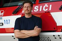 Libor Netopil. Mluvčí hasičů Zlínského kraje.