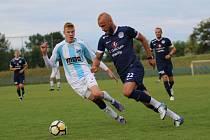 Fotbalisté ligového Slovácka (v tmavých dresech) . Ilustrační foto