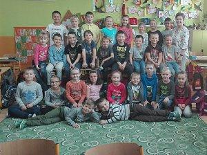 1. třída v Základní škole v Polešovicích, třídní učitelka Nedorostková