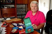 Olympijský vítěz Josef Panáček je na sbírku medailí právem hrdý.