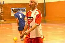 Internacionálové Slovácké Slavie Uherské Hradiště obsadili na domácím turnaji 2. místo.  na snímku nejlepší střelec Libor Soldán.