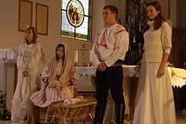 Prakšický kostel v sobotu odpoledne patřil vánočnímu vystoupení.