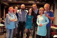 Herci Slováckého divadla při zkoušce hry Autista.