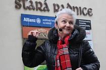 Komentovaná prohlídka města Uherské Hradiště se v úterý 15. března poprvé uskutečnila s pomocí nově pořízených naslouchacích zařízení.