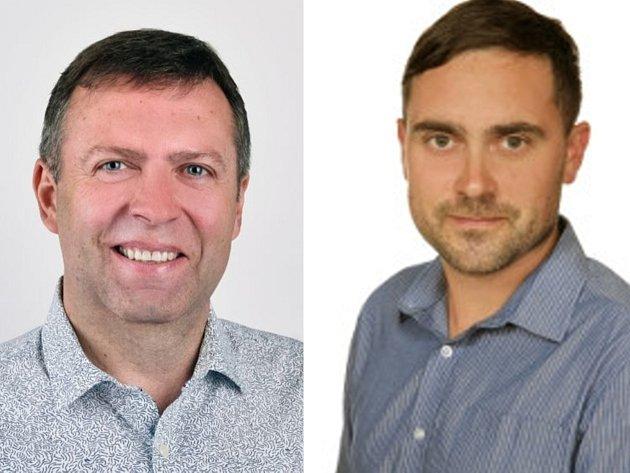 Zleva: Stanislav Blaha (ODS), František Elfmark (Česká strana pirátská)