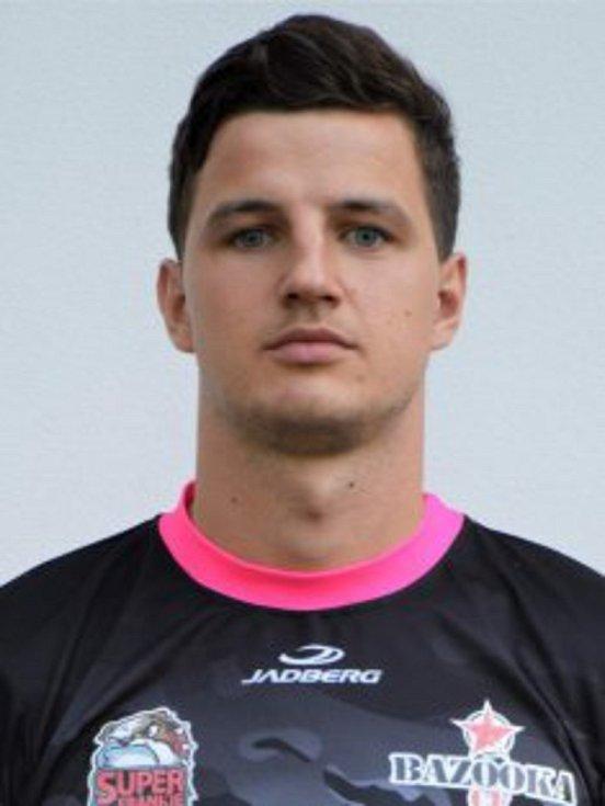 Jakub Svízela v dresu futsalové Bazooky Uherské Hradiště.