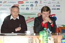 Fotbalovému klubu 1. FC Slovácko bude i nadále šéfovat dvojice Vladimír Krejčí, Miroslav Soukup.