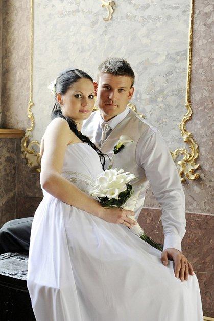 Soutěžní svatební pár číslo 39 - Michal a Šárka Kašíkovi, Kroměříž.