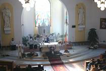 V kostele svatých Cyrila a Metoděje v Nedachlebicích se konala hubertská mše.
