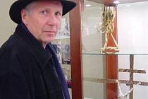 Výstava sakrálního umění velehradského sochaře Otmara Olivy v Ostrožské Nové Vsi.