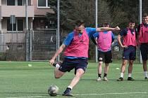 Mladí fotbalisté Slovácka se připravují na případný restart MSFL.