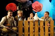 Pohádka O Květušce, zahrádce a babici Zimici. Petr Čagánek, Martin Vrtáček, Monika Horká, Kamil Pulec