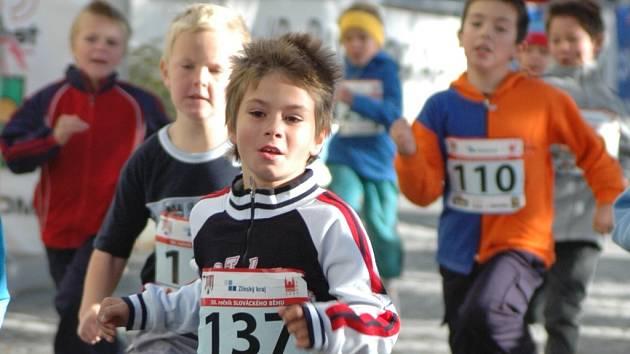 Běhu se zúčastnila spousta mladých závodníků.