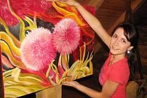 Malířka z Modré Veronika Daňková maluje ráda květiny