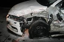 Havárie na letních gumách. Ilustrační foto.