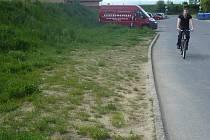 """Řidiči na ulici Sadová už parkují i na trávníku. To se postupně mění v """"divoké přírodní"""" parkoviště"""