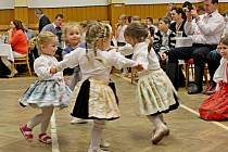 Vboršickém kulturním době  panovala příjemná plesová atmosféra krojovaných dětí.