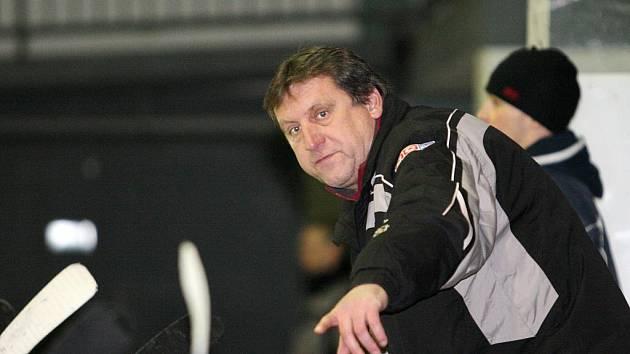 Trenér HC Uherské Hradiště Petr Sakrajda.