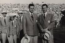 Dušan Houdek a Otakar Hořínek na OH v Římě v roce 1960.