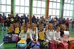 ZŠ Sportovní ve školním roce 2020/2021 bude navštěvovat celkem 653 žáků. Otvírá 3 první třídy s celkovým počtem 63 žáků. Na snímku 1. B třídní učitelky   Miluše Vosáhlové.