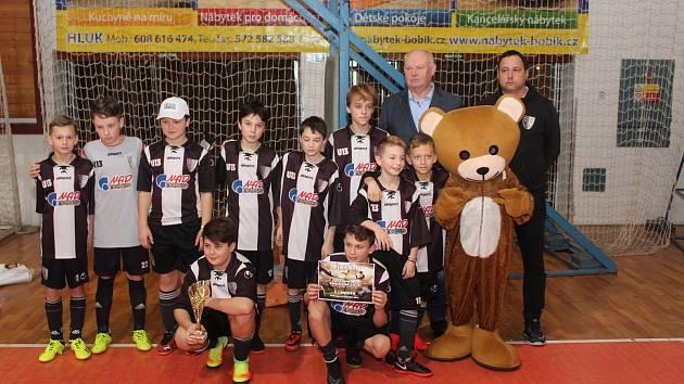 Vítězný tým Myjavy v kategorii mladších žáků.