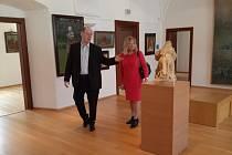 Marcela Laiferová v Galerii Joži Uprky