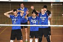Volejbalisté VSK Staré Město (v modrém) . Ilustrační foto