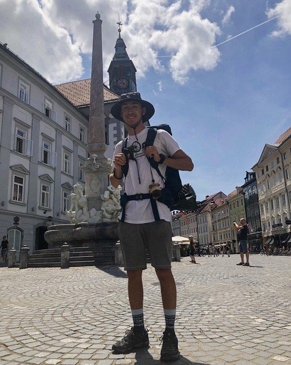 Maxim Jilík ve starobylém centru chorvatské Rijeky.