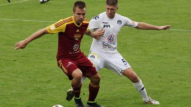 1. FC Slovácko - FK Dukla Praha. Ilustrační foto
