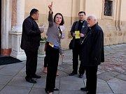 Katolický arcibiskup syrsko-chaldejského obřadu Yohann Petros Mouche z diecéze v iráckém Mosulu v doprovodu svého sekretáře Majjeda Ataly navštívili Velehrad.