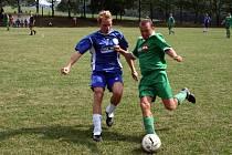 Jedním ze tří kandidátů na postup jsou v základní třídě skupině B i fotbalisté Přečkovic, kteří v tomto duelu zvítězili v Rudicích.