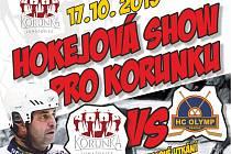 Hokejová show pro Korunku láká na brodský zimní stadion
