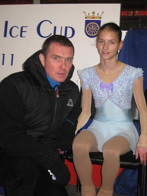 Klára Světlíková vedle hradišťské trenérky Svatavy Mazurkové spplupracuje i s Rusem Vladimírem Dvojnikovem (na snímku).