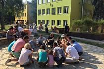 V mateřské školce na ulici Husova v Uh. Hradišti otevřeli novou zahradu.