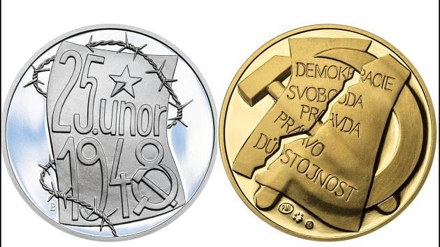 Symbolika čísel. Stříbrných medailonů mincovna vyrazí maximálně 1948 kusů. Symboliku nesou i emisní limity dalších variant se stejným motivem. (vlevo lícní strana stříbrné medaile, vpravo rub zlaté).