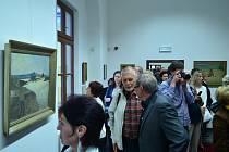 Vernisáž obrazů Cyrila Mandely v Galerii Joži Uprky v Uh. Hradišti.