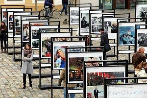 Výstava Okamžiky 100letí na Mariánském náměstí v Uherském Hradišti