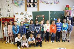 Základní škola Hradčovice – 1. B třída paní učitelky Kateřiny Mazůrkové.