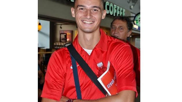 Martin Mazáč před odletem na šampionát do Moskvy.