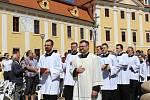Národní cyrilometodějská pouť před velehradskou bazilikou 5. července 2020.