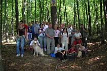 Foto výletníků u Obrázku svatého Václava