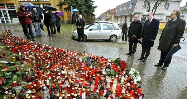 Premiér České republiky Bohuslav Sobotka (ČSSD) uctil památku obětí vUherském Brodě.